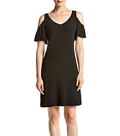 Prelude® Cold Shoulder Trapeze Dress