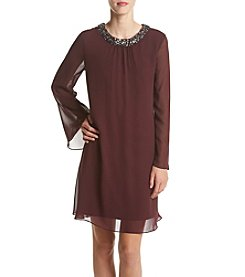 S.L. Fashions Chiffon Shift Dress
