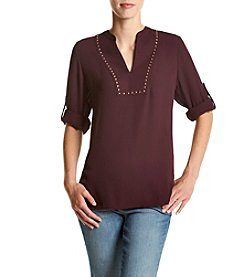 Ivanka Trump® V-Neck Georgette Blouse