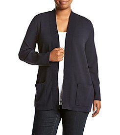 Jones New York® Plus Size Mixed Stitch Cardigan