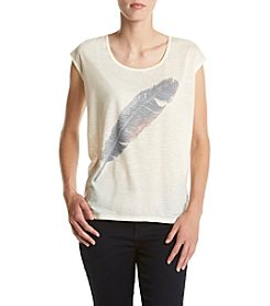 Jessica Simpson Feather Graphic Tee
