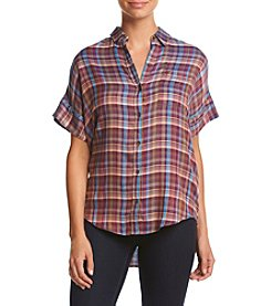 Lucky Brand® Plaid Button Up Top