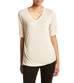 Jones New York® Marled Easy Side Drape Top