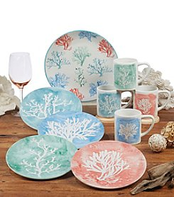 Certified International by Lisa Audit Water Coral Dinnerware Collection