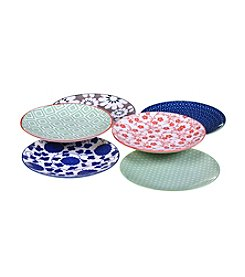 Certified International Soho Set of 6 Canape Plates