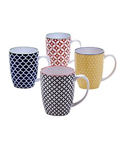 Certified International Soho Set of 4 Mugs