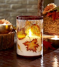 Order Home Collection® LED Crackle Leaf Candle
