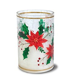 Order Home Collection® LED Crackle Poinsetta Candle