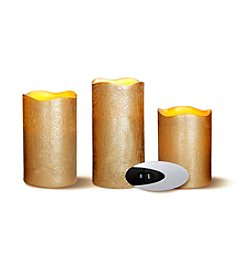 Order Home Collection® 3-pc. LED Gold Candles