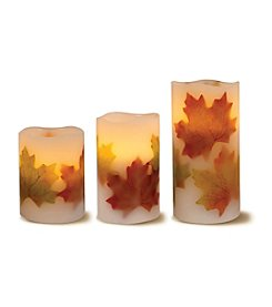 Order Home Collection® 3-pc. LED Leaf Candles