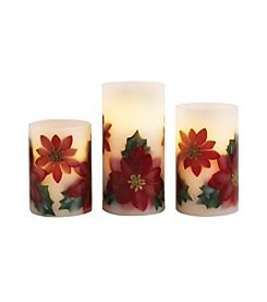 Order Home Collection® 3-pc. LED Poinsetta Candles