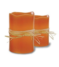 Order Home Collection® 2-pk. Pumpkin Rafia Candles