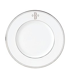 Lenox® Federal Platinum Monogram Block Accent Plate