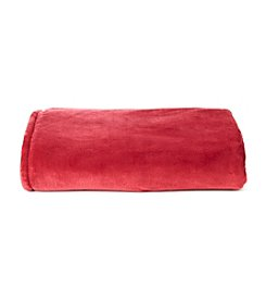 LivingQuarters Burgundy Luxe Plush Blanket