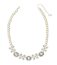 Relativity® Goldtone Crystal Statement Necklace