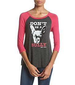 ACTive Kindness Tees - Compassion Brands Three-Quarter Sleeve Don't Be A Bully Baseball Tee