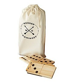 Refinery and Co. Wooden Dominoes Game