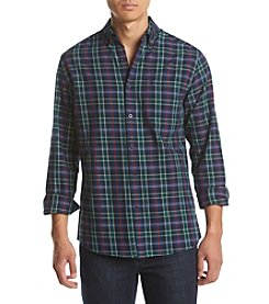 Le Tigre Men's Long Sleeve Twill Tartan Button Down Shirt
