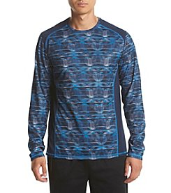 Exertek® Men's Long Sleeve Printed Mesh Tee