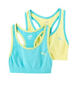 PUMA® Girls' 6-16 2-Pack Seamless Sports Bra