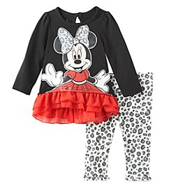 Nannette® Baby Girls' 2-Piece Minnie Tunic and Leggings Set