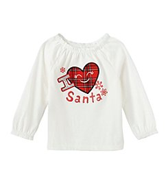 Mix & Match Baby Girls' I Heart Santa Peasant Top