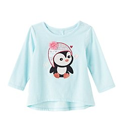 Mix & Match Baby Girls' Penguin High-Low Tee