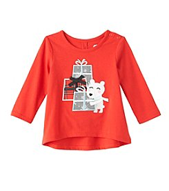 Mix & Match Baby Girls' Polar Bear High-Low Tee
