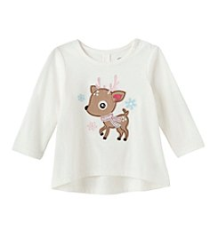 Mix & Match Baby Girls' Deer High-Low Tee