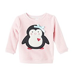 Mix & Match Baby Girls' Penguin Plush Pullover