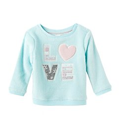 Mix & Match Baby Girls' Love Plush Pullover