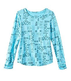 Miss Attitude Girls' Long Sleeve Love Tee