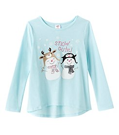 Mix & Match® Girls' 2T-6X Long Sleeve Snow Cute! Tee