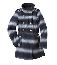 Jessica Simpson Girls' 7-16 Ombre Stand Collar Coat