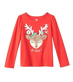 Mix & Match Girls' 2T-6X Long Sleeve Oh Deer! Tee