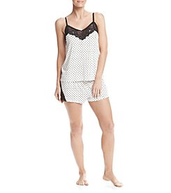Flora Nikrooz Printed Lace Trim Pajama Set