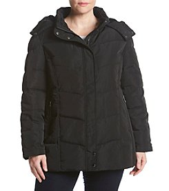 Calvin Klein Plus Size Detatch Hood Down Jacket