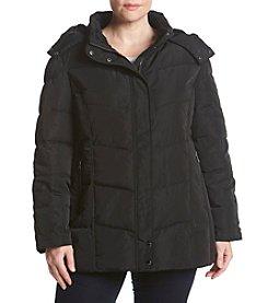 Calvin Klein Plus Size Detatch Hood Down Jacket