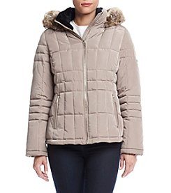Calvin Klein Faux Fur Trimmed Hood Down Jacket