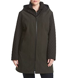 MICHAEL Michael Kors® Plus Size Quilted Sleeve Trench Coat