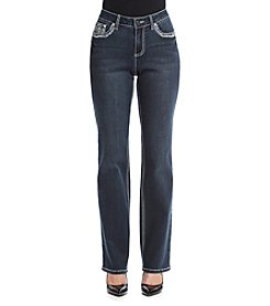 Earl Jean® Cross Bling Flat Pocket Straight Leg Jeans