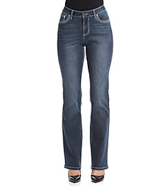 Earl Jean® Swirl Bling Point Flap Pocket Bootcut Jeans