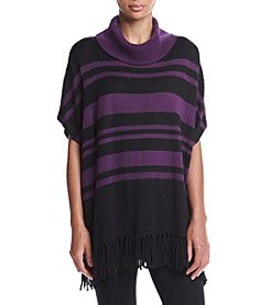 Relativity® Striped Cowlneck Poncho