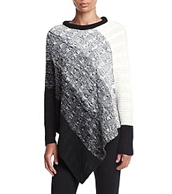 Relativity® Asymmetrical Cable Ombre Sweater