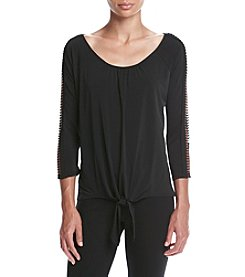 Relativity® Openwork Shoulder Top