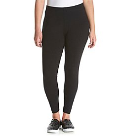 Relativity® Plus Size Solid Color Pull On Leggings