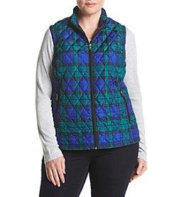 Relativity® Plus Size Printed Anorak Vest