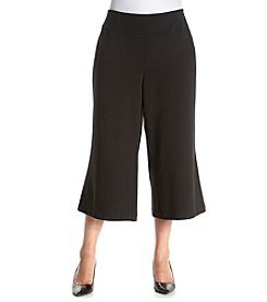 Relativity® Plus Size Pull On Seam Front Culotte