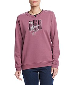 Breckenridge® Crew Neck Batik Dandelion Fleece