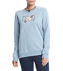 Breckenridge® Crew Neck Pretty Kitty Fleece